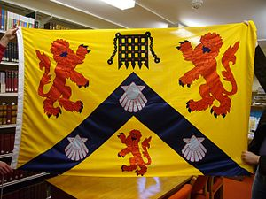 Westminster College, Oxford - The banner of arms of the college