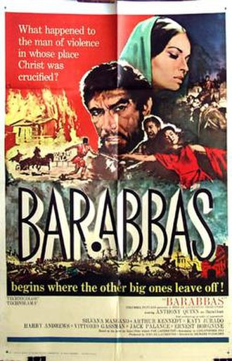Barabbas (1961 film) - Theatrical release one sheet by Frank McCarthy