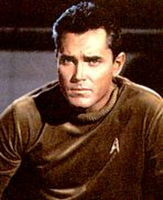 """Christopher Pike (Star Trek) - Captain Pike, as played by Jeffrey Hunter in the original pilot """"The Cage""""."""
