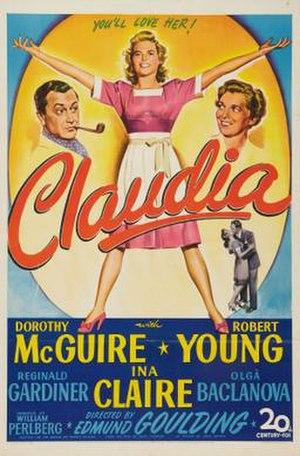 Claudia (1943 film) - Theatrical release poster