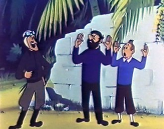 Hergé's Adventures of Tintin - A screenshot from The Crab with the Golden Claws