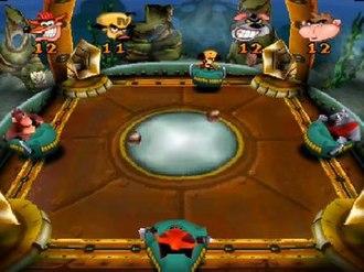 "Crash Bash - A ""Polar Push"" level in Crash Bash featuring Cortex, Coco, Tiny and Dingodile"