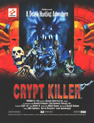 Crypt Killer - North American arcade flyer