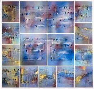 David Blackburn (artist) - A Landscape Vision No. 2, 1986, 150x162.5 cm, pastel on paper.