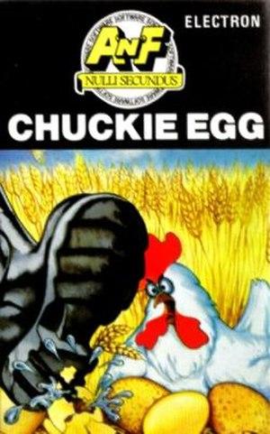 Chuckie Egg - Image: Electron Chuckie Egg inlay