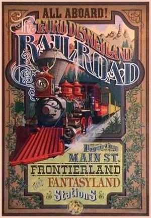 Disneyland Railroad (Paris) - Image: Euro Disneyland Railroad poster