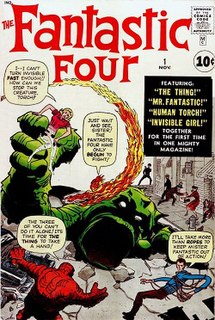 <i>Fantastic Four</i> (comic book) Marvel comics featuring the superheroes titled the Fantastic Four