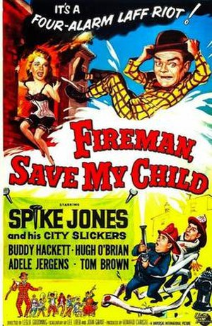 Fireman Save My Child (1954 film) - Theatrical poster.