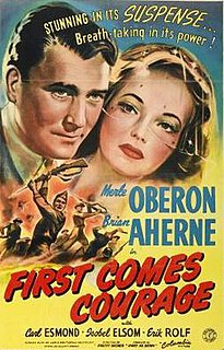 <i>First Comes Courage</i> 1943 film by Dorothy Arzner, Charles Vidor