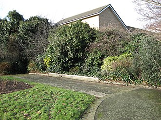 Sayes Court - Now disused and overgrown; in 1951 there were flower beds and a small pool fed by a spout in the form of a frog here.