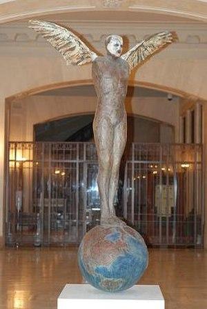 Fritz Scholder - Future Clone, Fritz Scholder, bronze sculpture, 1999, George Gustav Heye Center, NMAI