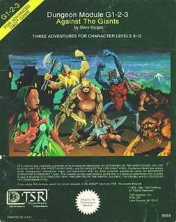 <i>Against the Giants</i> Role-playing game adventure by Gary Gygax