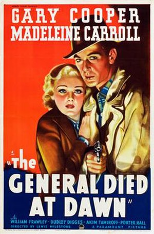 The General Died at Dawn - Theatrical release poster