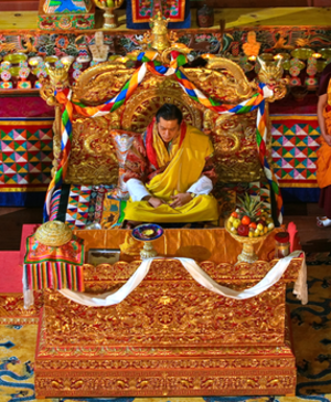 Line of succession to the Bhutanese throne - Image: Golden Throne of Bhutan