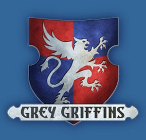 Grey Griffins - The logo of the Grey Griffins book series.