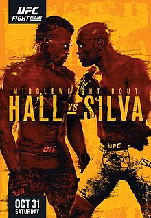 UFC Fight Night: Hall vs. Silva Fight Poster