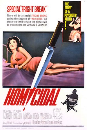 Homicidal - Original film poster