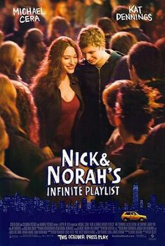 Nick & Norah's Infinite Playlist - Theatrical release poster