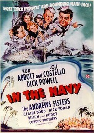 In the Navy (film) - Theatrical release poster