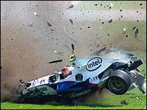 2007 Canadian Grand Prix - Robert Kubica's violent crash.