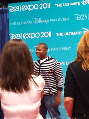 Kyle Massey on the red carpet at the D23 Expo ...