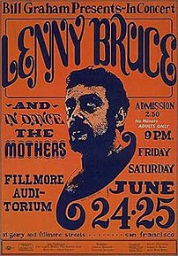 Poster for Lenny Bruce's last series of appear...