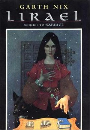 Lirael - US cover of Lirael, featuring the title character and the Disreputable Dog.