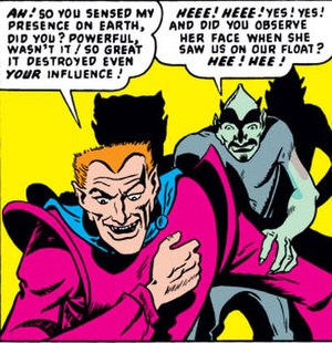 Loki (comics) - Loki's first appearance in the Venus comics (1949).