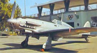 Macchi C.205 -  Macchi C.205 Veltro in service with the postwar Aeronautica Militare, around 1960.