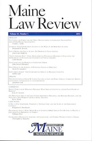 Maine Law Review - Image: Maine law review cover vol 65