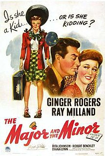 <i>The Major and the Minor</i> 1942 film by Billy Wilder