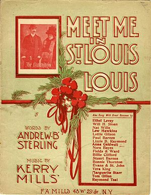 Meet Me in St. Louis, Louis - Cover, sheet music, 1904