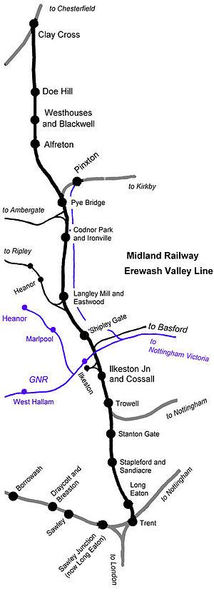 Erewash Valley line - The Midland Railway Erewash Valley line