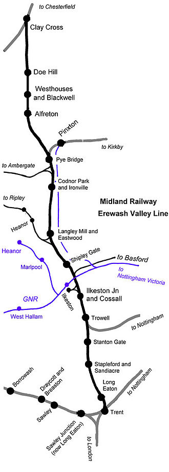 Erewash Valley line - The Midland Railway Erewash Valley line