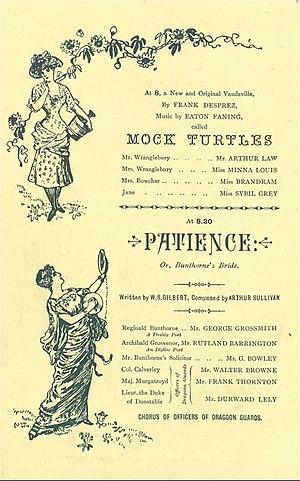 Eaton Faning - Savoy Theatre programme for Faning's Mock Turtles