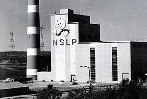 Nova Scotia Light and Power - Phase one of the Tufts Cove thermal generating station was erected in 1964.