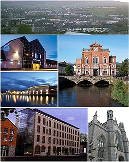Newry city in Northern Ireland