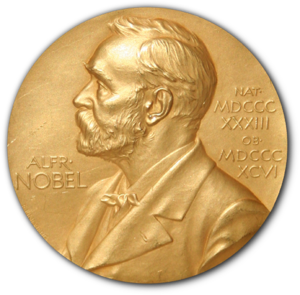 Front side (obverse) of Nobel Prize