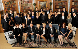 One Life to Live - The season 44 (2011–12) and official ABC Daytime finale cast photo of One Life to Live. Front row (l-r): Portrait of Philip Carey, Patricia Elliott, Hillary B. Smith, Robert S. Woods, show creator Agnes Nixon, Erika Slezak, Jerry verDorn, Melissa Archer, Ilene Kristen Second row: Peter Bartlett, Shenell Edmonds, Eddie Alderson, Austin Williams, Farah Fath, John-Paul Lavoisier, Kassie DePaiva, Roger Howarth, Kristen Alderson, Michael Easton, Mark Lawson, Bree Williamson, David A. Gregory Third row: Lea DeLaria, Josh Kelly, Terri Conn, Shenaz Treasury, Andrew Trischitta, Ted King, Florencia Lozano, Sean Ringgold, Kearran Giovanni, Kelley Missal, Lenny Platt, Nic Robuck.