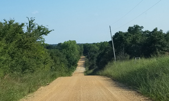 Green Corn Rebellion - View of Roasting Ear Ridge (left side of the road) from south of the intersection of EW 1390 and NS 3630, facing South. North of Sasakwa, Seminole County, Oklahoma, August 4, 2017