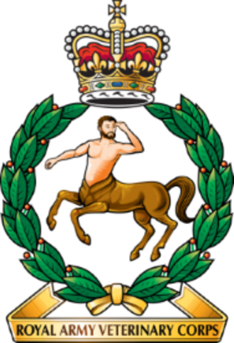 Royal Army Veterinary Corps - Cap badge of the Royal Army Veterinary Corps incorporating Chiron