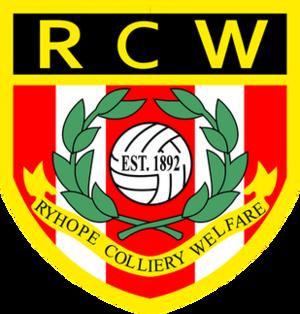 Ryhope Colliery Welfare F.C. - Image: Ryhope Colliery Welfare F.C. logo