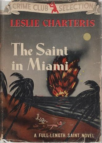 The Saint in Miami - First US edition cover