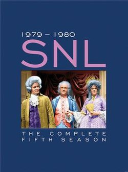 The title card for the fifth season of Saturday Night Live.