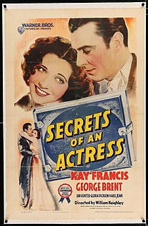 <i>Secrets of an Actress</i> 1938 film by William Keighley