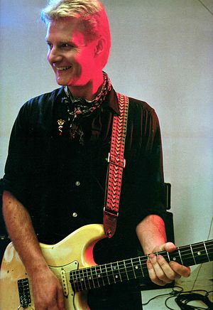 Simon Binks - Simon Binks as lead guitarist of Australian Crawl