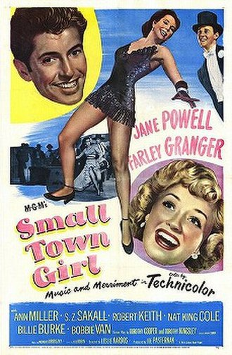 Small Town Girl (1953 film) - Theatrical release poster