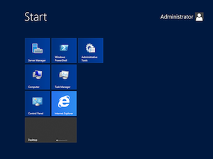 Windows Server 2012 - Image: Start screen on Windows Server 2012