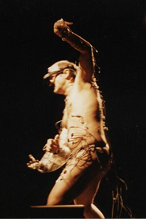 Electronic art - Stelarc Parasite: Event for Invaded and Involuntary Body, at the 1997 Ars Electronica Festival