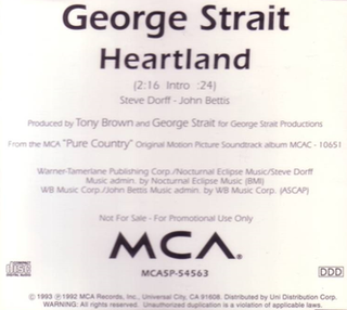 Heartland (George Strait song) 1993 single by George Strait